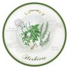 PLAT A PATES EN PORCELAINE COLLECTION HERBIERS 30 CM - JD DIFFUSION