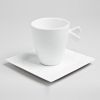 LOT DE 6  TASSES A THE EN PORCELAINE BLANCHE 20 CL ODYSSEE - TABLE ET PASSION