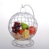 COUPE A FRUITS SUSPENDUE ARGENT HOME - SOCADIS