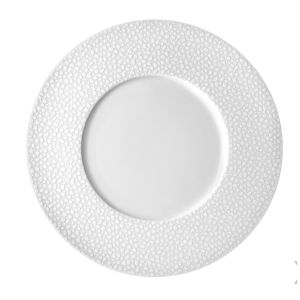 lot de 6 assiettes plates 27 cm baghera blanc medard de noblat. Black Bedroom Furniture Sets. Home Design Ideas