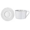 LOT DE 6 TASSES A THE AVEC SOUCOUPES BAGHERA BLANC - MEDARD DE NOBLAT