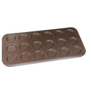 PLAQUE A 18 MINI BURGERS ANTI-ADHERENTE - USTENSILES A PATISSERIE - GOBEL