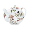 THEIERE EN PORCELAINE FINE DECOR FLORAISON - JD DIFFUSION