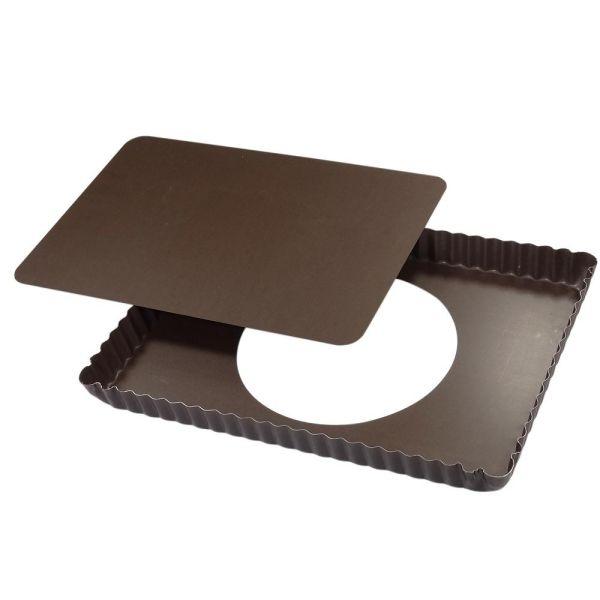 gobel moule a tarte rectangulaire a fond amovible en. Black Bedroom Furniture Sets. Home Design Ideas