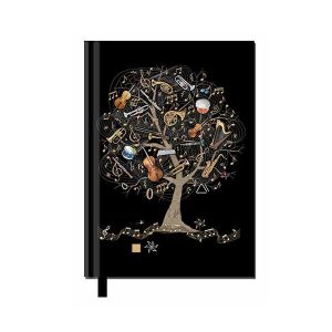 NOTE BOOK BLOC NOTES FORMAT A5 ARBRE MUSIQUE - KIUB