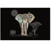 LOT DE 6 SETS DE TABLE PLASTIFIES 43 X 28 CM DECOR JEWELS ELEPHANT - KIUB