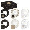COFFRET 6 TASSES A CAFE EN PORCELAINE 100ML COFFEE MANIA GOOD MORNING - EASYLIFE