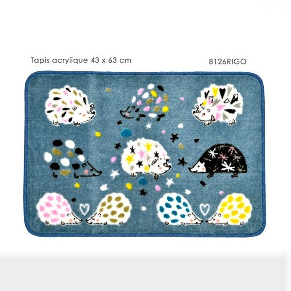 Tapis de cuisine acrylique 43 x 63 cm collection herisson for Tapis de cuisine fox trot