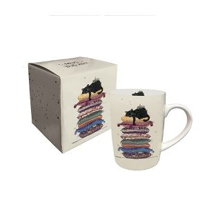 MUG EN PORCELAINE EN BOITE CADEAU 25 CL DECOR CHAT FAINEANT- KIUB