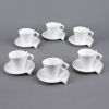 LOT DE 6 TASSE A  THE 18 CL LIBRA BLANC  - TABLE ET PASSION