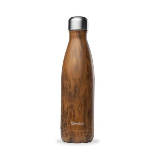 BOUTEILLE ISOTHERME - WOOD BRUN 500 ML - QWETCH