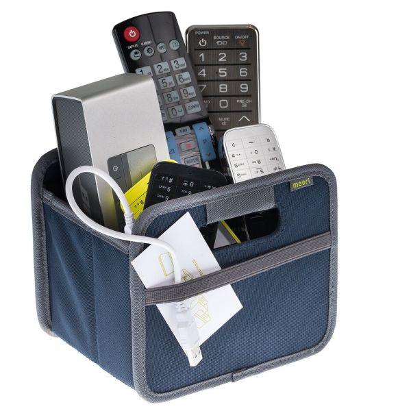 boite de rangement telecommande vide poche pliable mini marine bleu meori. Black Bedroom Furniture Sets. Home Design Ideas