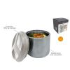 LUNCH BOX INOX ISOTHERME COUVERCLE HERMETIQUE 1L - NERTHUS - SOCADIS