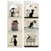 LOT DE 6 DESSOUS DE VERRES DECORS CHATS ASSORTIS - KIUB