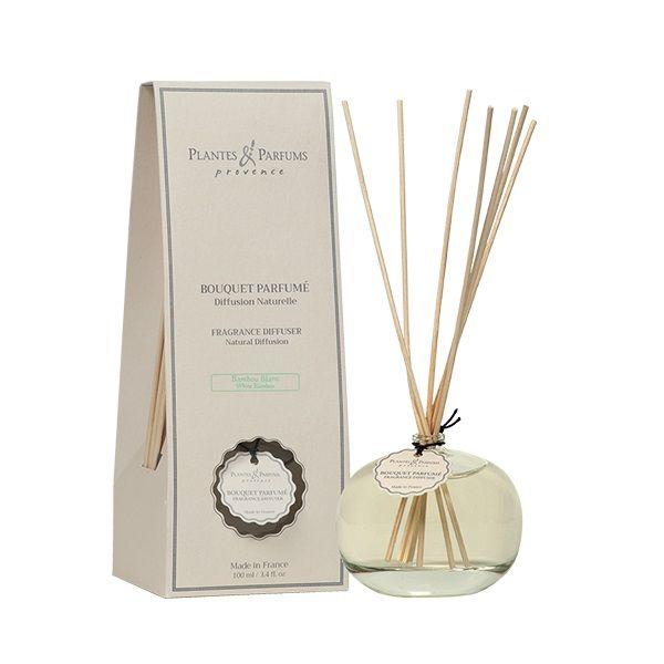 bouquet brins parfumes 100 ml bambou blanc plantes et. Black Bedroom Furniture Sets. Home Design Ideas