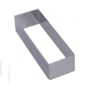 CERCLE A PATISSERIE  RECTANGULAIRE EN INOX 12 X 4 CM - DE BUYER