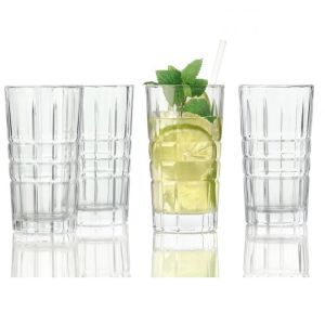 LOT DE 4 VERRES LONG DRINK TAILLES SPIRITII  26 CL - LEONARDO