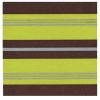 LOT DE 20 SERVIETTES DE TABLE INTISSE  40 X 40 CM STRIPES ANIS - FRANCOISE PAVIOT