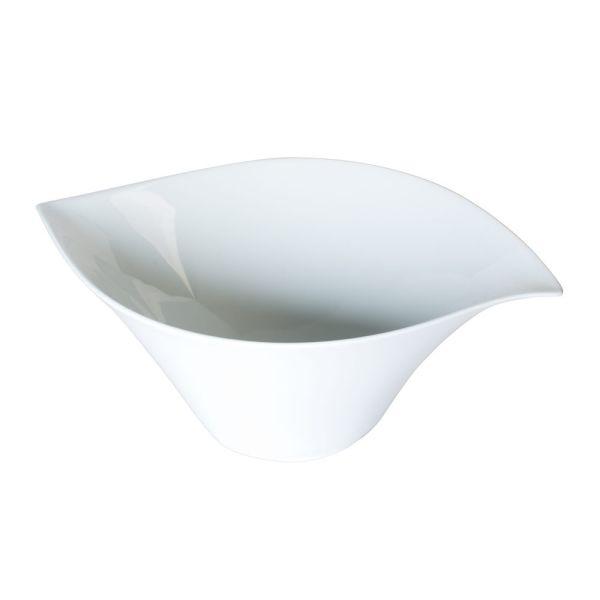 saladier porcelaine blanche 5l feuille table et passion. Black Bedroom Furniture Sets. Home Design Ideas