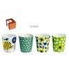 BOITE DE 4 GOBELETS A CAFE DECOR ESPRIT NATURE - FOX TROT