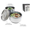 LUNCH BOX INOX ISOTHERME COUVERCLE HERMETIQUE 2 COMPARTIMENTS 1L + 0,5L - NERTHUS - SOCADIS