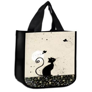 SAC CABAS DECOR CHAT REVEUR  - KIUB