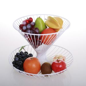 COUPE A FRUITS 2 ETAGES BLANCHE HOME - SOCADIS