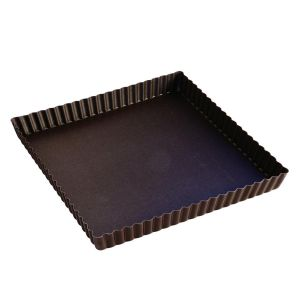 gobel moule a tarte carr cannel en acier anti adh rent. Black Bedroom Furniture Sets. Home Design Ideas