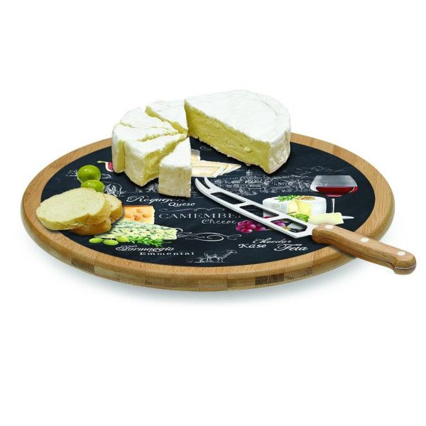 plateau a fromage tournant avec planche en verre world of cheese jd diffusion. Black Bedroom Furniture Sets. Home Design Ideas