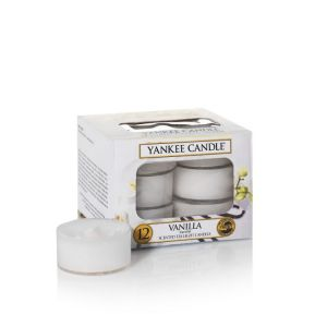 LOT DE 12 LUMIGNONS PARFUMES VANILLE - YANKEE CANDLE