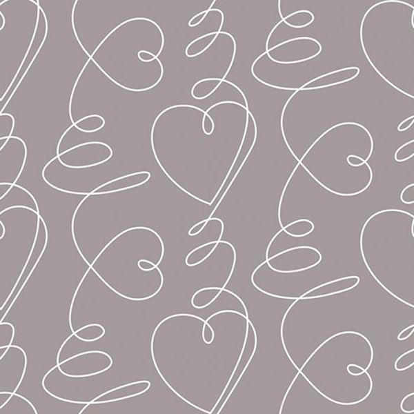 toile ciree au metre heartbeat grey toile ciree lola. Black Bedroom Furniture Sets. Home Design Ideas