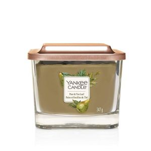 ELEVATION BOUGIE PARFUMEE MOYENNE 3 MECHES POIRE ET FEUILLES DE THE - YANKEE CANDLE
