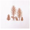 LOT DE 20 SERVIETTES DE TABLE INTISSE 40 X 40 CM FOX FOND BLANC - FRANCOISE PAVIOT