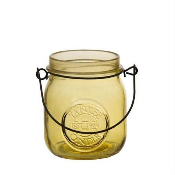 photophore pot de confiture jaune pour bougie votive yankee candle. Black Bedroom Furniture Sets. Home Design Ideas