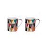 COFFRET 2 MUGS EN PORCELAINE FINE 30CL DIGITAL WAVE - JD DIFFUSION