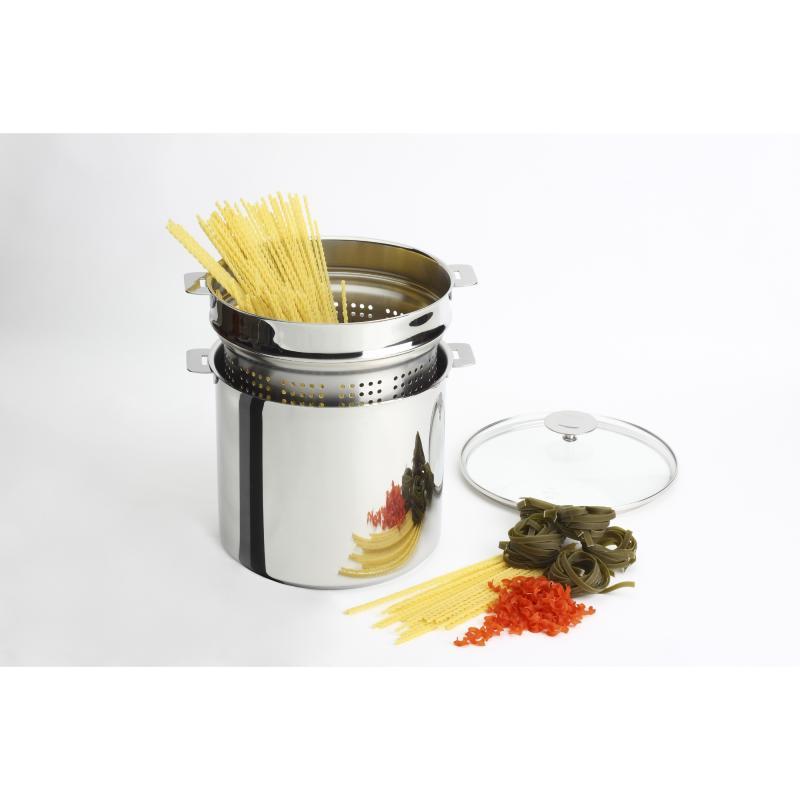 cristel lement cuit p tes 20 cm pour 500 grammes de p tes ustensiles de cuisson en inox. Black Bedroom Furniture Sets. Home Design Ideas