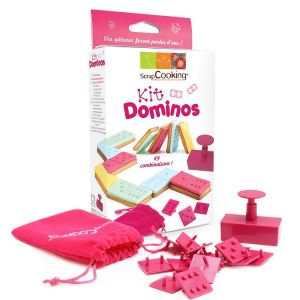 KIT DOMINOS POUR BISCUITS ET PATE A SUCRE - SCRAPCOOKING