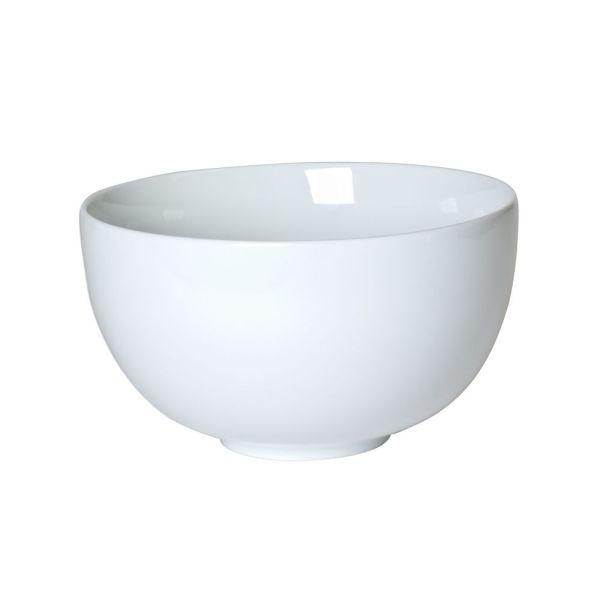 saladier en porcelaine blanc 23 cm boule table et passion. Black Bedroom Furniture Sets. Home Design Ideas