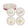 COFFRET 4 ASSIETTES FROMAGE DESSERT MARCHAND DE FROMAGE - EASYLIFE