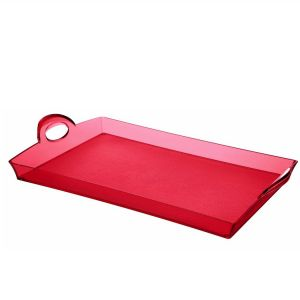 PLATEAU RECTANGULAIRE HAPPY HOUR  ROUGE 33 X 54 CM - GUZZINI