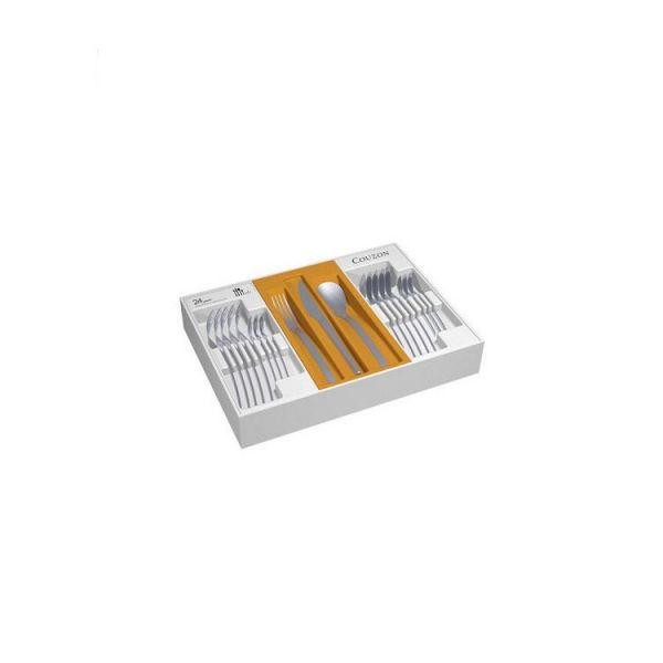 Elixir coffret couverts de table en inox 24 pieces couzon - Coffret couvert de table ...