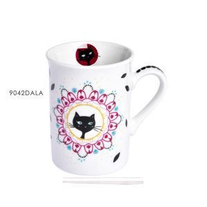 MUG EN PORCELAINE 10 CM COLLECTION CHAT MANDALA - FOX TROT