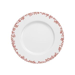 LOT DE 6 ASSIETTES DESSERT DECOR STRAWBERRY ROUGE - MEDARD DE NOBLAT