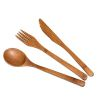 ENSEMBLE 3 PIECES COUVERTS REUTILISABLES EN BAMBOU - TOTALLY BAMBOO