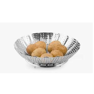 Cuit vapeur a legumes marguerite en inox ustensile de for Marguerite cuisine
