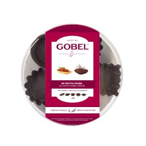 LOT DE 30 MOULES A PETITS FOURS ASSORTIS AVEC REVETEMENT ANTI-ADHERENT - GOBEL