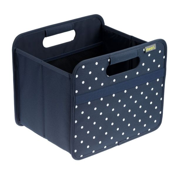 boite de rangement pliable classic petit modele marine bleu dots meori. Black Bedroom Furniture Sets. Home Design Ideas