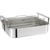 PLAT FOUR RECTANGULAIRE TRILAMINE  35 X30 CM 2 ANSES LARGES + GRILLE INOX+THERMOMETRE - CRISTEL