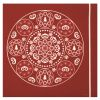 LOT DE 20 SERVIETTES DE TABLE INTISSE 40 X 40 CM BOHEME ROUGE - FRANCOISE PAVIOT